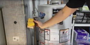 Turn water heater gas back on