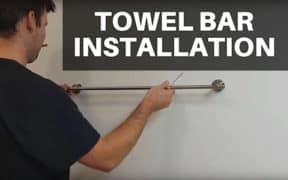 Towel Bar Installation