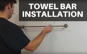 Towel Bar Installation